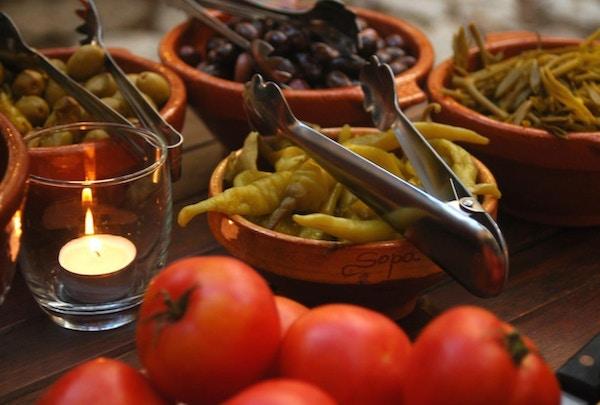 Tomater, oliven