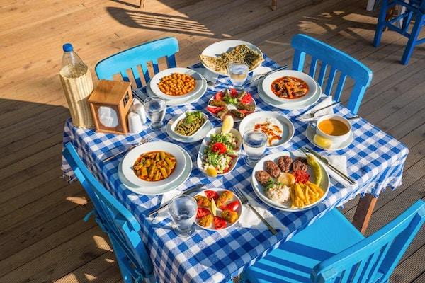 Tyrkisk lunsjbord
