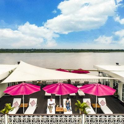 Mekong river cruise deck view