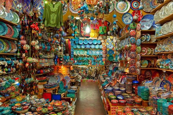 Grand bazaar i Istanbul, Tyrkia.