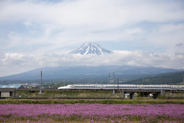 Mt.Fuji og The Shinkansen.