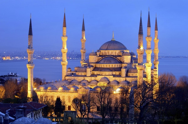Den blå moskeen i Istanbul