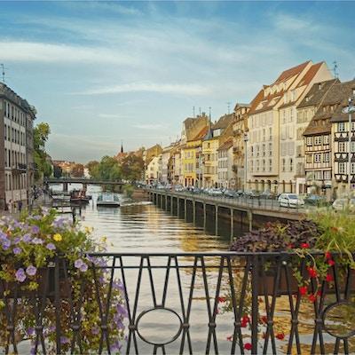 historiske gamlebyen i Strasbourg, Frankrike,