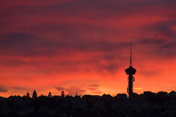 Solnedgang over Trondheim