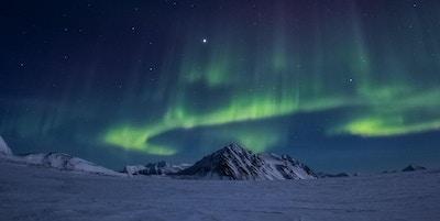 Arktisk vinter i sør Spitsbergen