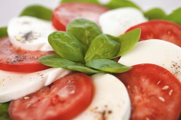 Mozarella og tomater