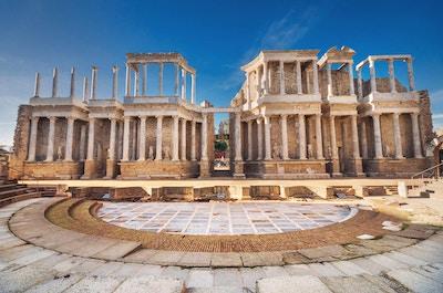 Merida Roman Theatre, Merida, Extremadura, Spania.