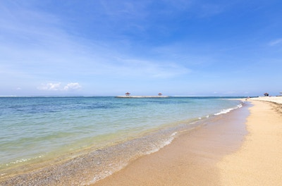 Sanur-stranden på Bali / Indonesia