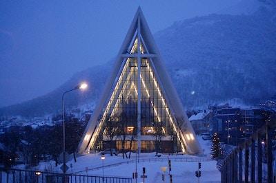 Norge hurtigruten tromso vinter foto a