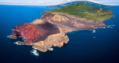 Capelinhos Volcan utsikt ovenfra