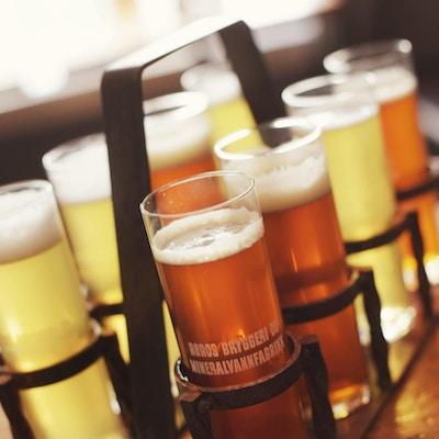 Ølglass fra Røros Bryggeri