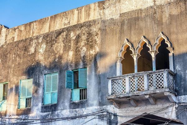 Tipiske hus i Stone Town, Zanzibar, Tanzania