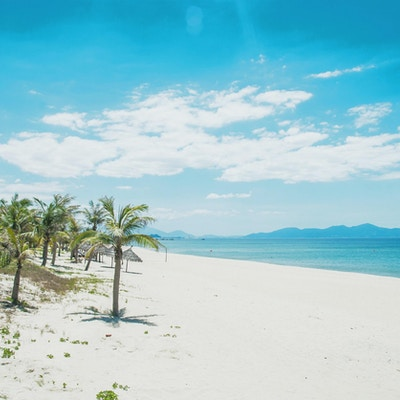 Ha My-stranden, Hoi An, sentrale Vietnam