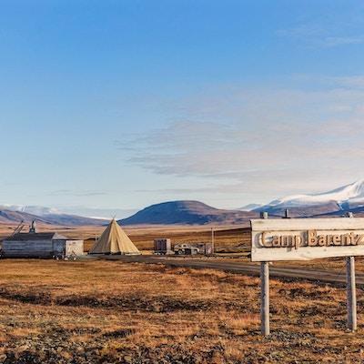 Lavotelt på Camp Barentz