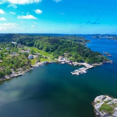 Panaoramabilde over ei øy