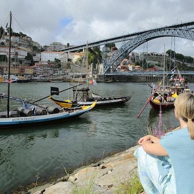 Tradisjonelle seilbåter på Douroelven