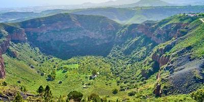 Vulkankrater på Gran Canaria