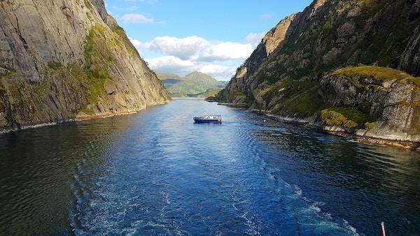 Norge Lofoten Trollfjorden