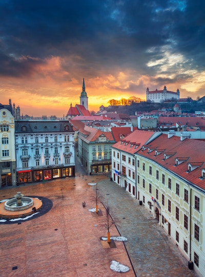 Getty Images 1129165447 Slovakia Bratislava vinter by
