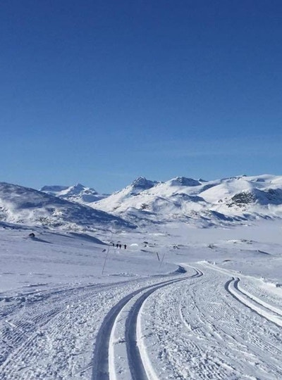 Valdres norway skiing winter tour